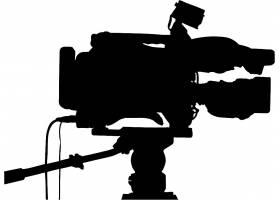 直播录像机剪影数码智能产品设计