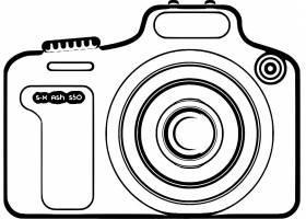 单反数码相机智能产品线稿设计