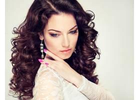 女人,模特,模特,脸,头发,卷曲,耳环,壁纸,(1)