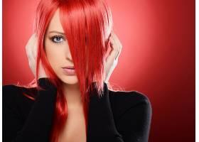 女人,模特,模特,脸,女孩,红色,头发,壁纸,