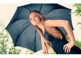 女人,漂亮的,妇女,女孩,雨伞,壁纸,图片