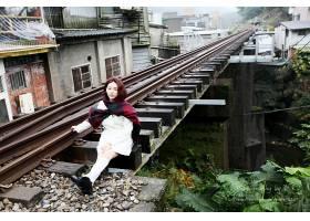 女人,Lín,Yǔ,模特,台湾,女孩,模特,亚洲的,台湾的,铁路,壁纸,(3
