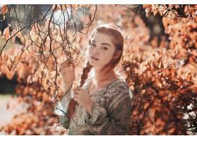 女人,模特,模特,妇女,蓝色,眼睛,秋天,红发的人,辫子,壁纸,