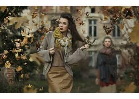 女人,模特,模特,秋天,壁纸,(1)