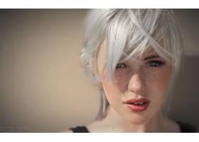 女人,德文郡,翡翠,模特,一致的,州,妇女,模特,雀斑,白色,头发,脸,