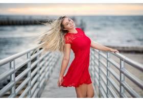女人,情绪,妇女,模特,女孩,红色,穿衣,微笑,白皙的,壁纸,