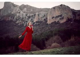 女人,情绪,妇女,模特,女孩,红色,穿衣,深度,关于,领域,壁纸,