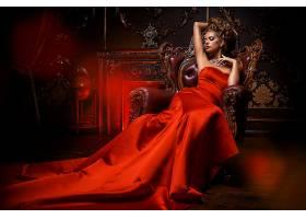 女人,情绪,妇女,模特,女孩,红色,穿衣,红发的人,项链,壁纸,
