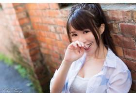 女人,亚洲的,长的,头发,棕色,眼睛,微笑,壁纸,