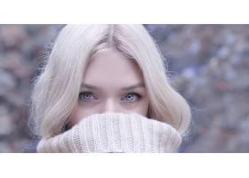 女人,脸,妇女,模特,女孩,白皙的,蓝色,眼睛,壁纸,(7)