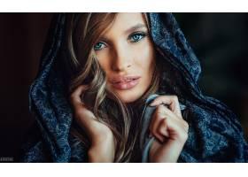 女人,脸,妇女,模特,女孩,蓝色,眼睛,黑发女人,壁纸,(2)