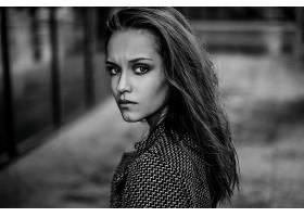女人,模特,模特,妇女,女孩,黑色,白色,凝视,壁纸,