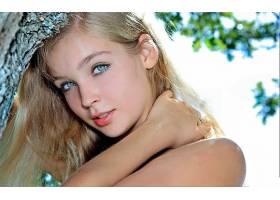 女人,美丽的,模特,脸,白皙的,蓝色,眼睛,头发,壁纸,
