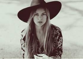 女人,模特,模特,妇女,女孩,黑色,白色,帽子,壁纸,(1)