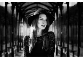 女人,模特,模特,妇女,女孩,黑色,白色,帽子,壁纸,