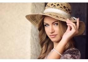 女人,模特,模特,妇女,帽子,绿色的,眼睛,白皙的,Bokeh,壁纸,