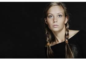 女人,模特,模特,妇女,白皙的,蓝色,眼睛,辫子,壁纸,