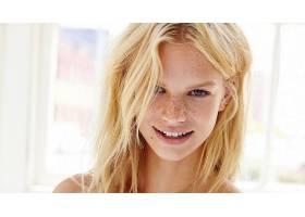 女人,模特,模特,妇女,白皙的,雀斑,微笑,绿色的,眼睛,壁纸,