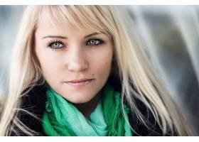 女人,模特,模特,妇女,绿色的,眼睛,白皙的,围巾,壁纸,