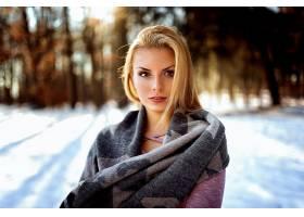 女人,模特,模特,妇女,女孩,白皙的,棕色,眼睛,深度,关于,领域,冬