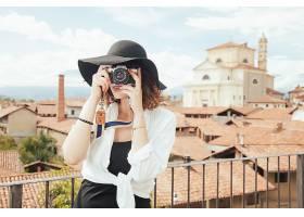 女人,情绪,照相机,奥林匹斯山,妇女,女孩,帽子,建筑物,壁纸,