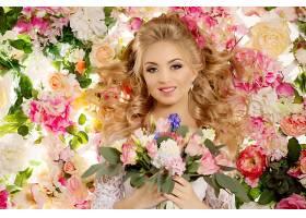 女人,新娘,妇女,模特,女孩,微笑,白皙的,蓝色,眼睛,花,酒香,白色,