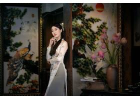 女人,亚洲的,女孩,越南的,绘画,书,花,酒香,安哥拉,奶妈,壁纸,