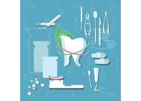 创意牙齿牙医矢量装饰插画设计