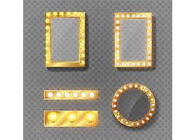 灯饰边框矢量装饰插画设计