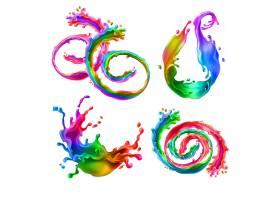 色彩风格的装饰图形矢量装饰插画设计