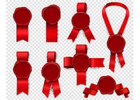 红色印章元素矢量装饰插画设计
