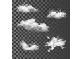云朵造型矢量装饰图案插画设计