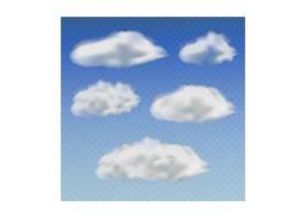 蓝色迷离云朵