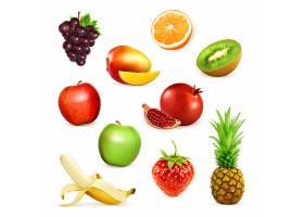 各式水果造型矢量装饰图案插画设计