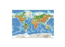 世界地图矢量装饰插画设计