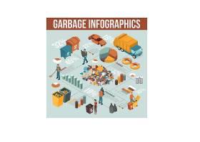 创意垃圾回收流程信息矢量设计