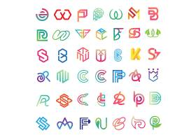抽象字母图形形象创意LOGO设计