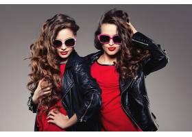 女人,模特,模特,妇女,女孩,太阳镜,黑发女人,卷曲,长的,头发,壁纸