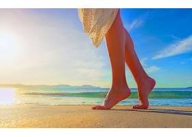 女人,腿,热带的,海滩,地平线,快活的,壁纸,