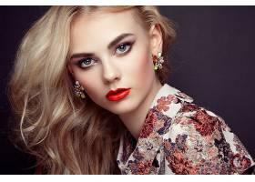 女人,模特,模特,妇女,女孩,脸,白皙的,蓝色,眼睛,耳环,口红,壁纸,