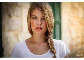女人,模特,模特,妇女,女孩,脸,白皙的,蓝色,眼睛,辫子,壁纸,