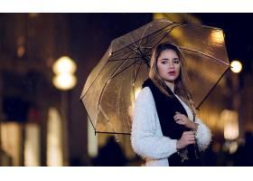 女人,模特,模特,妇女,女孩,雨伞,夜晚,黑发女人,棕色,眼睛,壁纸,图片