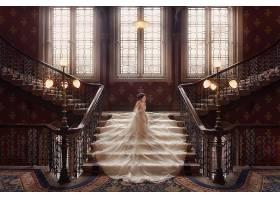 女人,新娘,妇女,女孩,亚洲的,楼梯,黑发女人,婚礼,穿衣,壁纸,