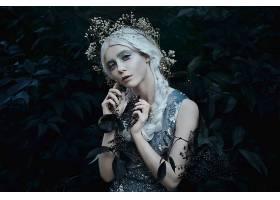 女人,情绪,妇女,蓝色,眼睛,植物,户外的,白色,头发,壁纸,