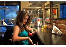 女人,情绪,酒吧,玫瑰,女孩,壁纸,
