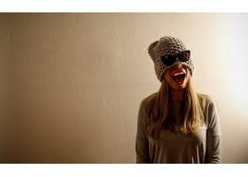 女人,情绪,妇女,女孩,白皙的,帽子,太阳镜,微笑,壁纸,