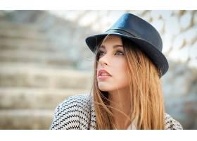 女人,情绪,妇女,女孩,白皙的,帽子,棕色,眼睛,模特,脸,壁纸,
