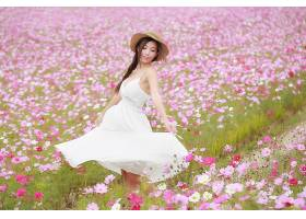 女人,亚洲的,妇女,模特,女孩,情绪,白色,穿衣,帽子,辫子,黑发女人