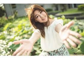 女人,亚洲的,妇女,模特,女孩,文莱,深度,关于,领域,微笑,壁纸,