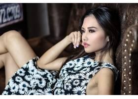 女人,亚洲的,妇女,模特,女孩,穿衣,棕色,眼睛,黑色,头发,壁纸,